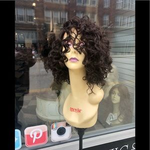 Brown curly short bob Lacefront wig 2020